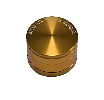 """Large 2.75"""" Gold 3 Piece SANTA SHREDDER"""