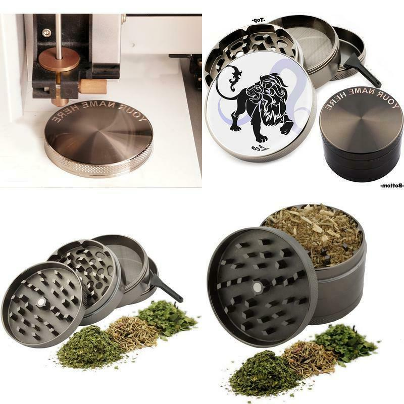 leo zodiac design large size zinc grinder