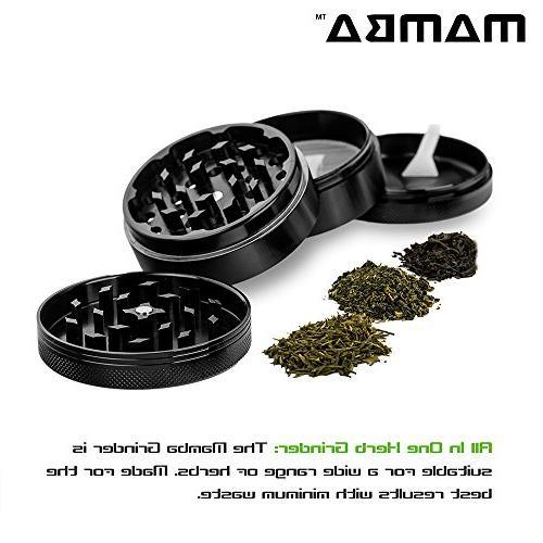 Mamba Anodized Aluminum Herb Razor Teeth & Pollen Catcher