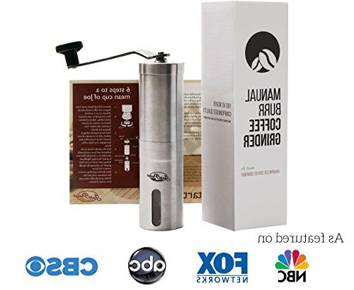 JavaPresse Manual Coffee Conical Mill, Stainless