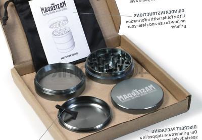 Masterdam Herb Grinders , Gunmetal)