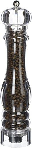 Bisetti Milano 13 Inch Clear Acrylic Pepper Mill