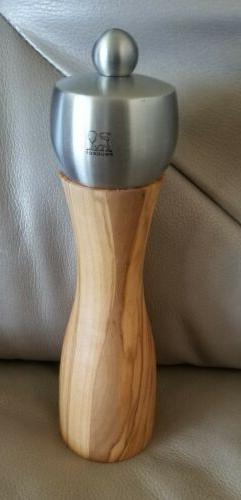"Peugeot Olivewood Fidji 8"" Salt Mill Grinder Manual NEW!"