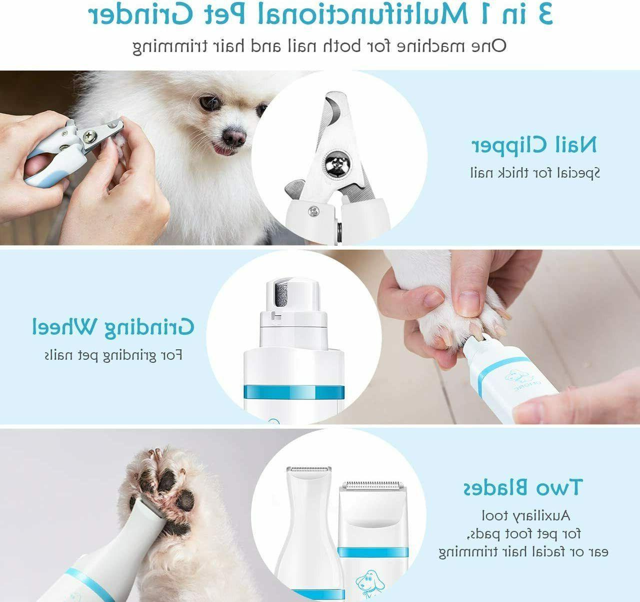 OMORC Dog Nail Speeds Fast Nail File, Hair