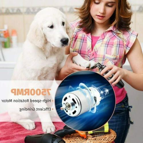 OMORC Dog Nail Grinder Trimmer Nail Tool