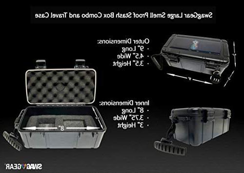 Pineapple Locking Combo - Case lock Stash Rolling Tray Ultimate Stash Combo! Odor Stash Container