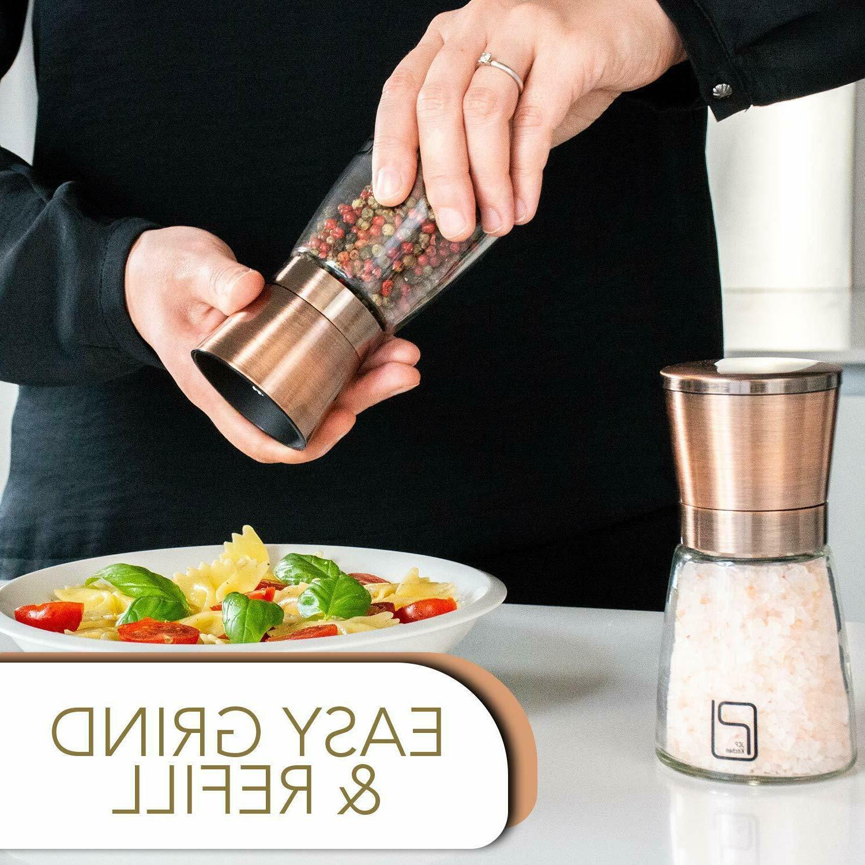 Premium Salt Pepper Grinder - Copper Steel for
