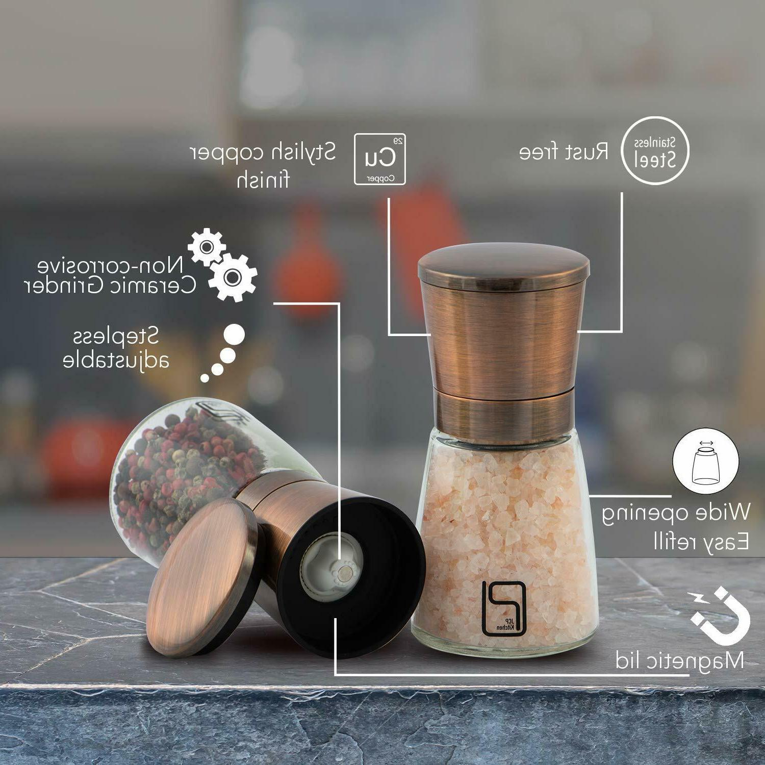 Premium and Pepper Grinder Set Best Copper Stainless for