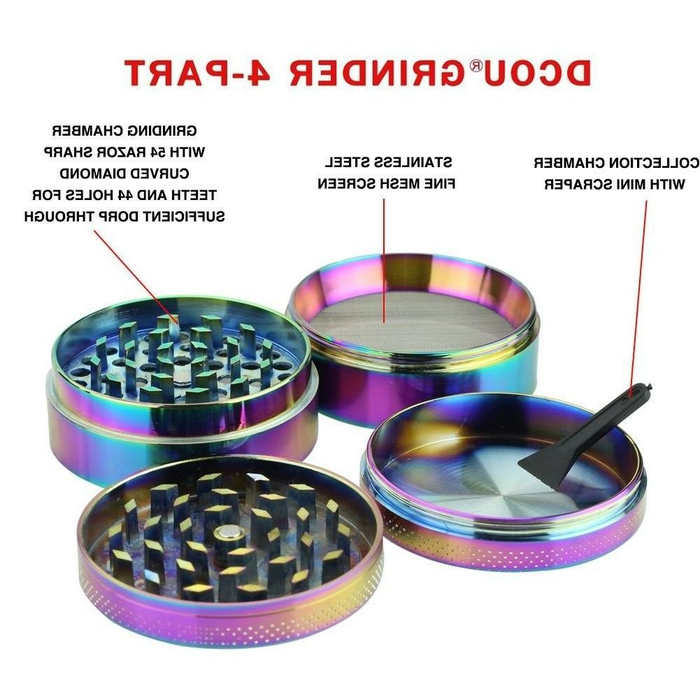 DCOU Rainbow Grinders 2.2 4 Parts Zinc Herb