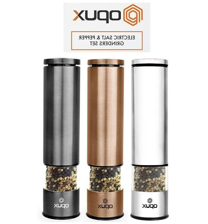 salt and pepper grinders electric mill set