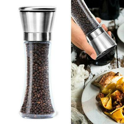 Salt and Pepper Grinders Manual Mill Large Stainless Steel A