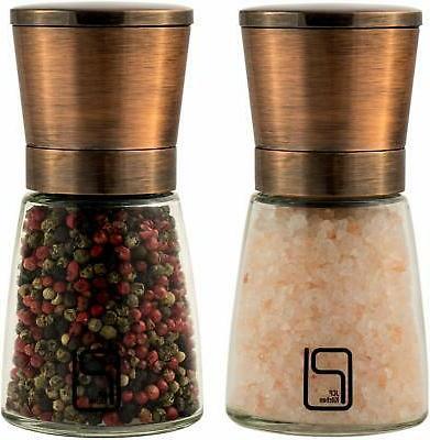 salt pepper grinder set stainless