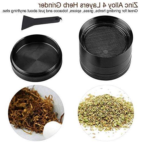 Afiken Spice Herb 4-in-1 Scraper, Zinc Crusher