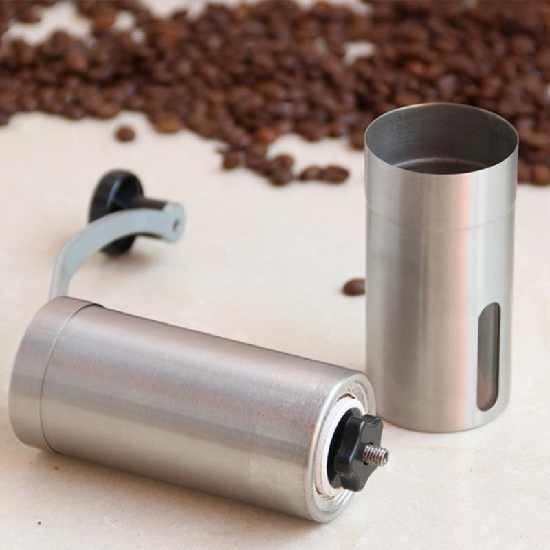 Stainless Manual Handmade Bean Mill Kitchen Silver <font><b>Coffee</b></font> Tool