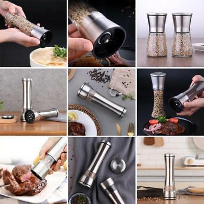 stainless steel pepper grinder hand twist spice