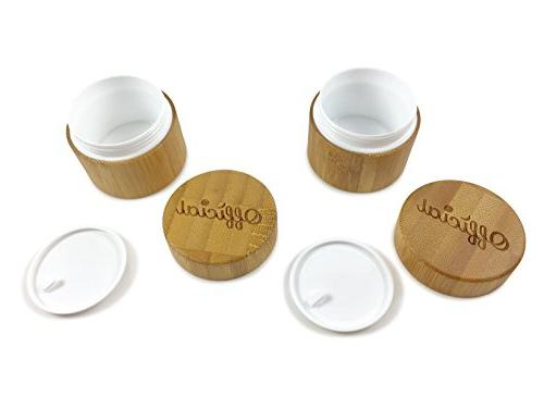 2 Gram Container Bamboo Smell Proof Container With