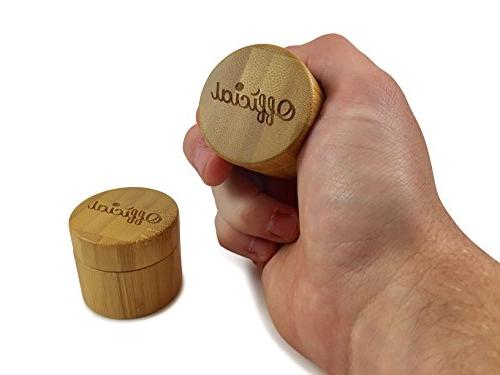 2 Gram Weed Container Bamboo Smell With Airtight Double Seal Pocket Travel Size