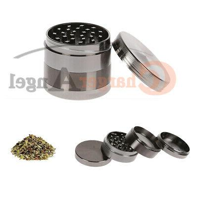 Tobacco Herb Herbal 4 Piece Metal Chromium Alloy Smoke Crusher