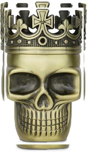 upgraded full metal spice herb skull grinder