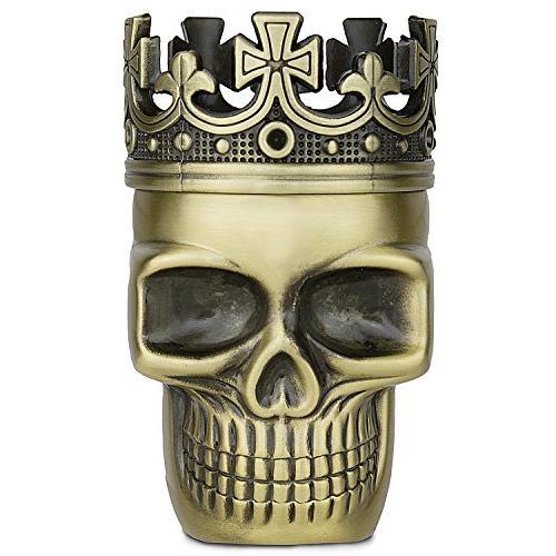 upgraded metal spice herb skull