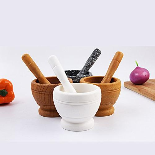Wooden Press Pestles,Muti-Function for and Tools Set Garlic Mud Crush Clean Grinding Tool Kitchen Squeezer