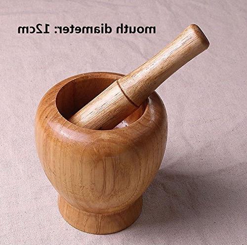 Saim Wooden Pestles Spice Set Garlic Grinder Accessory Cooking Tool, 12cm
