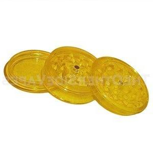 yellow magnetic acrylic herb grinder