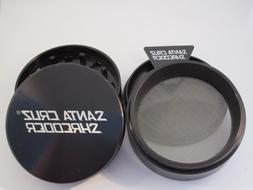 "Large 2.75"" Black 4 Piece SANTA CRUZ SHREDDER Grinder Glossy"