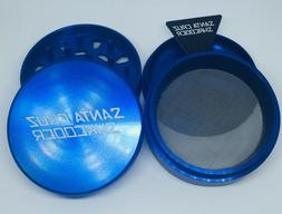"Large 2.75"" Blue 4 Piece SANTA CRUZ SHREDDER Grinder Glossy"