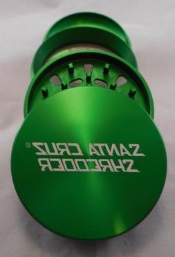 "Large 2.75"" Green 4 Piece SANTA CRUZ SHREDDER Grinder Glossy"