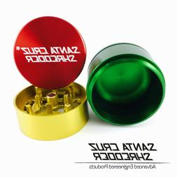 "Large 2.75"" Rasta 3 Piece SANTA CRUZ SHREDDER Grinder Glossy"