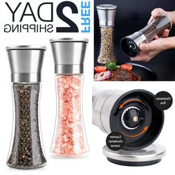 Large Salt And Pepper Grinders Set Spice Mill Shakers Modern