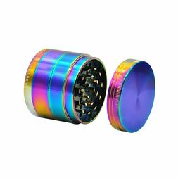 50MM Large Stainless  Grinder-4 Layer Catcher Rainbow US