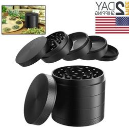 Large Spice Tobacco Herb Weed Grinder-5 Pcs with Pollen Catc