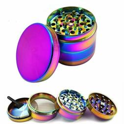 Large Stainless Spice Tobacco Herb Weed Grinder-4 Layers Rai