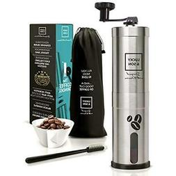 Manual Coffee Grinder - Top Rated Hand Crank Conical Bean Wi