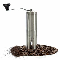 Manual Hand Coffee Grinder Ceramic Portable Burr Grinder Top