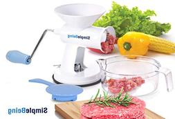 Simple Being Manual Meat Grinder Set with Stainless Steel Bl