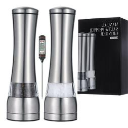 Manual Pepper and Salt Grinder 2pcs Set - Mill Set, Shakers,