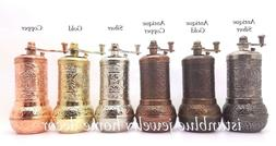 HANDMADE MANUAL TURKISH BRASS PEPPER GRINDER SPICE MILL 4.3