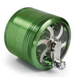 MasterGrind Mill 4 Piece Herb Grinder - Crank Handle Pollen