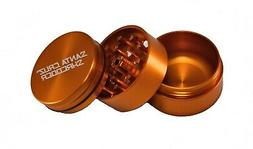 "Medium 2.2"" Gold 3 Piece SANTA CRUZ SHREDDER Grinder Glossy"