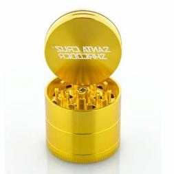"Medium 2.2"" Gold Santa Cruz Shredder Aluminum Herb Grinder 4"