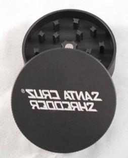 "Medium 2.2"" Matte Black 2 Piece SANTA CRUZ SHREDDER Grinder"