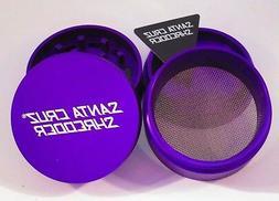 "Medium 2.2"" Matte Purple 4 Piece SANTA CRUZ SHREDDER Grinder"