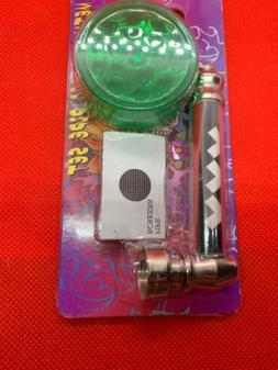Metal tabacco Weed pipe With 5 Screens and Accessories