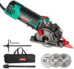 HYCHIKA Mini Circular Saw Laser Hand Held Grinder Cutting To