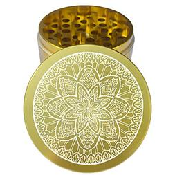 "2.2"" Multi Tooth Custom Grinder w/ Mandala 36 Engraving"
