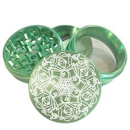 "2.2"" Multi Tooth Custom Grinder w/ People Mandala Engraving"