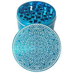 "2.2"" Multi Tooth Custom Grinder w/ Mandala 42 Engraving"